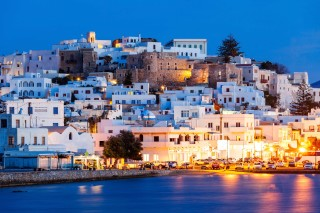 plaka rent a car naxos night view